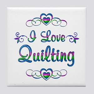 I Love Quilting Tile Coaster