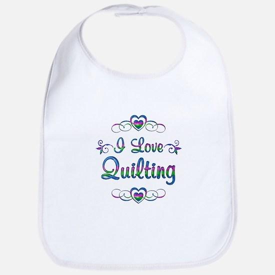 I Love Quilting Bib