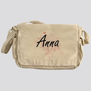 Anna Artistic Name Design with Butte Messenger Bag