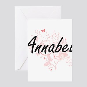 Annabel Artistic Name Design with B Greeting Cards