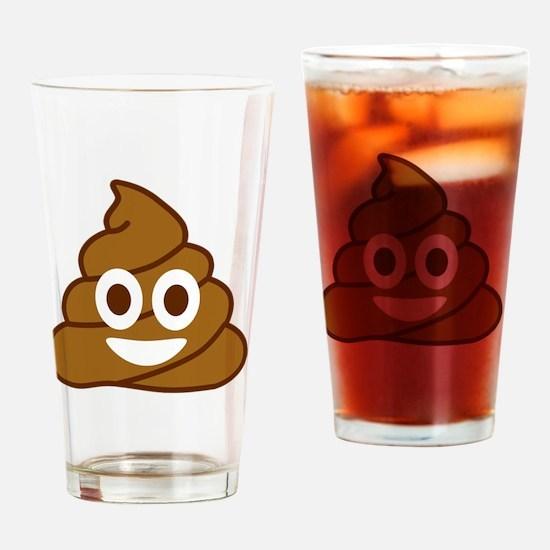 Cute Turd Drinking Glass