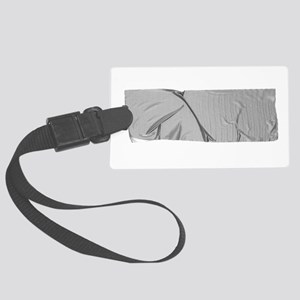 duck tape silver Large Luggage Tag