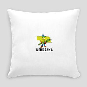 Nebraska Everyday Pillow