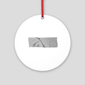 duck tape silver Round Ornament
