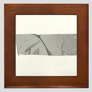 duck tape silver Framed Tile