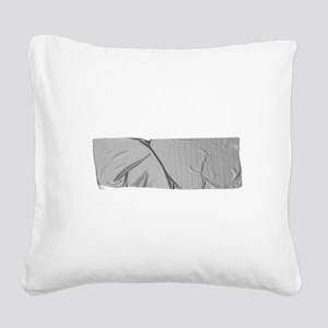 duck tape silver Square Canvas Pillow