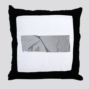 duck tape silver Throw Pillow