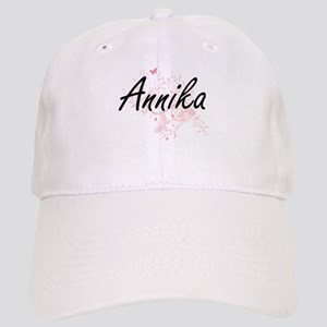 Annika Artistic Name Design with Butterflies Cap