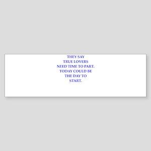 poem Bumper Sticker