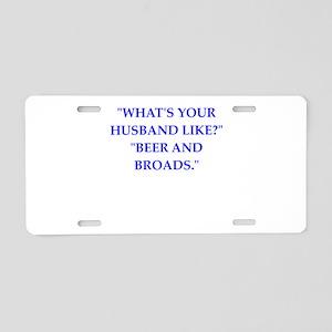 husband Aluminum License Plate