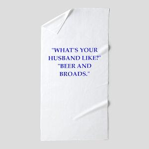 husband Beach Towel