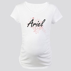 Ariel Artistic Name Design with Maternity T-Shirt