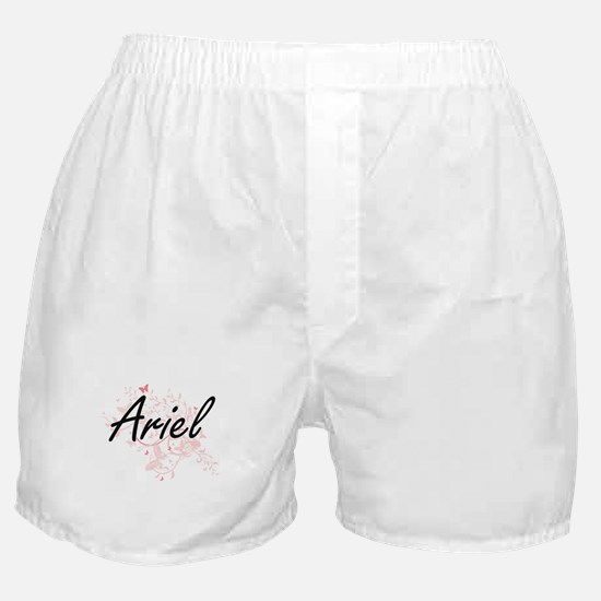Ariel Artistic Name Design with Butte Boxer Shorts