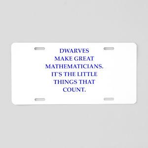math Aluminum License Plate