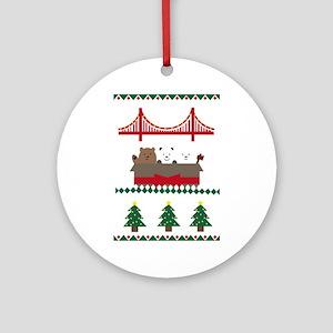 Christmas bears Round Ornament