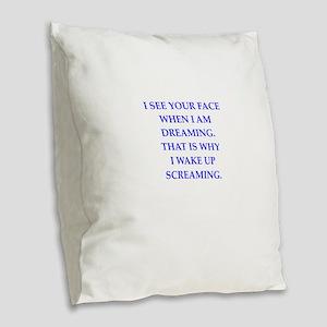 horror Burlap Throw Pillow