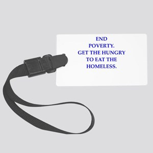 poverty Luggage Tag