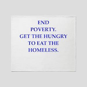 poverty Throw Blanket
