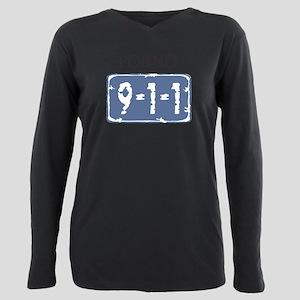 Porno_911_sign Plus Size Long Sleeve Tee