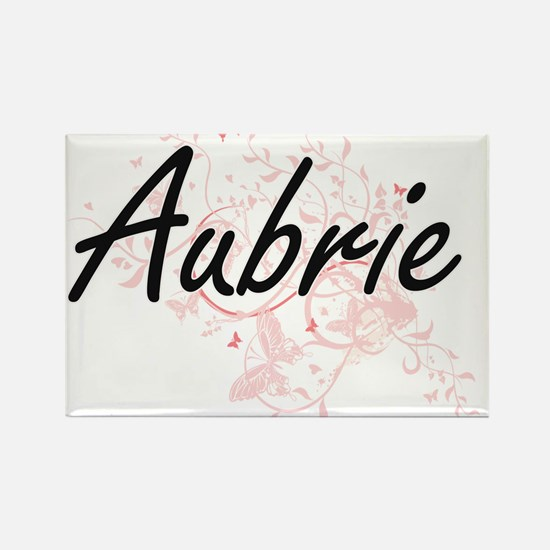Aubrie Artistic Name Design with Butterfli Magnets