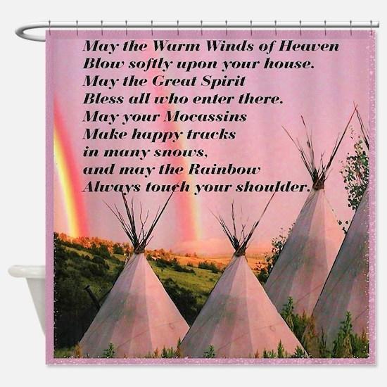 Cherokee Blessing Prayer Shower Curtain