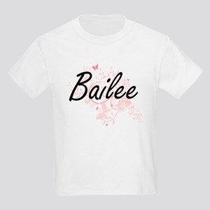 Bailee Artistic Name Design with Butterfli T-Shirt