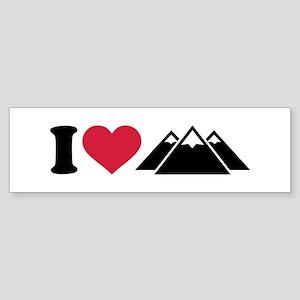 I love mountains Sticker (Bumper)