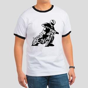 Flat Track One Black Bike T-Shirt