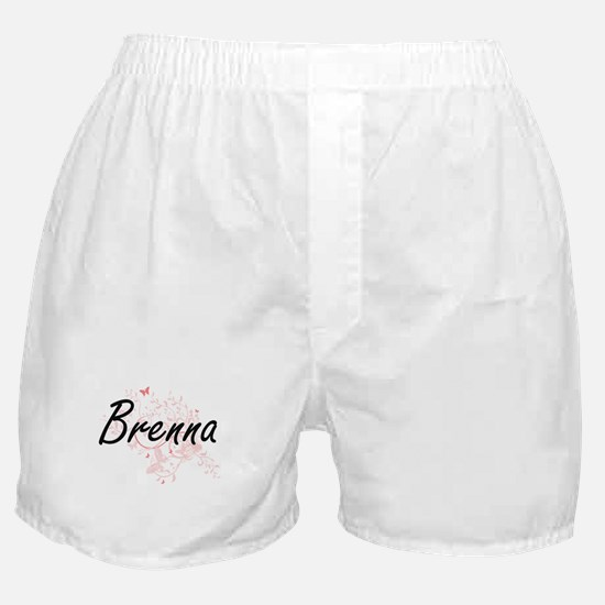 Brenna Artistic Name Design with Butt Boxer Shorts