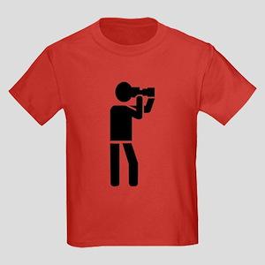Photographer logo Kids Dark T-Shirt