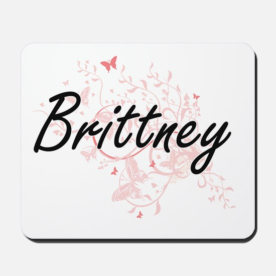 Brittney Artistic Name Design with Butte Mousepad