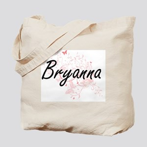 Bryanna Artistic Name Design with Butterf Tote Bag