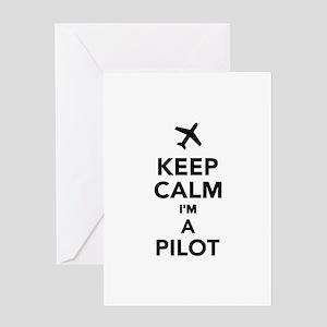 Keep calm I'm a Pilot Greeting Card