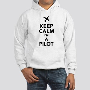 Keep calm I'm a Pilot Hooded Sweatshirt
