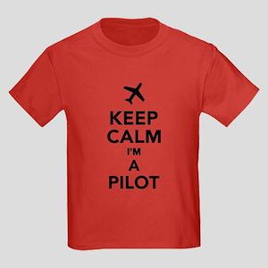 Keep calm I'm a Pilot Kids Dark T-Shirt