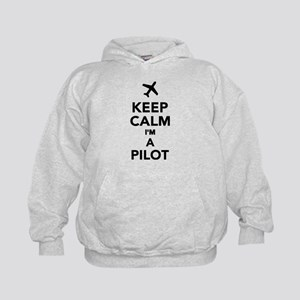Keep calm I'm a Pilot Kids Hoodie