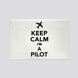 Keep calm I'm a Pilot Rectangle Magnet
