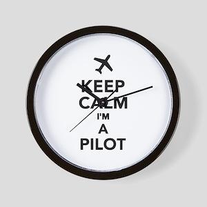 Keep calm I'm a Pilot Wall Clock