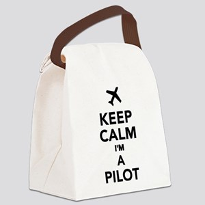 Keep calm I'm a Pilot Canvas Lunch Bag