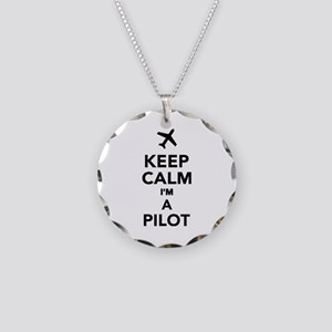 Keep calm I'm a Pilot Necklace Circle Charm