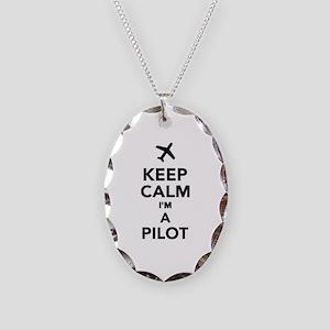 Keep calm I'm a Pilot Necklace Oval Charm