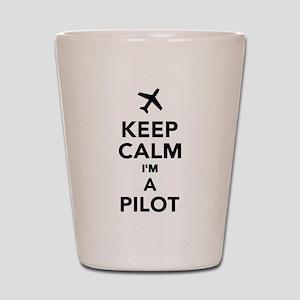 Keep calm I'm a Pilot Shot Glass
