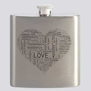 Heart Outlander Flask