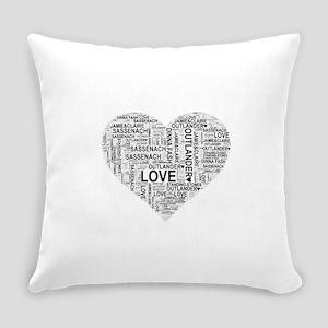 Heart Outlander Everyday Pillow