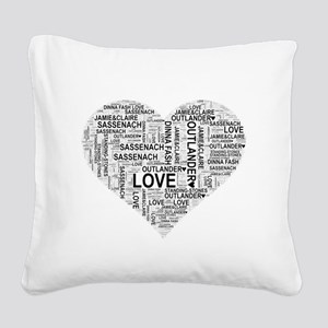 Heart Outlander Square Canvas Pillow