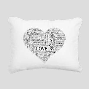 Heart Outlander Rectangular Canvas Pillow