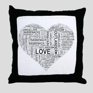 Heart Outlander Throw Pillow
