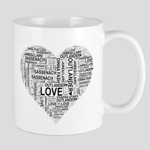 Heart Outlander Mugs