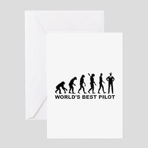 Evolution world's best Pilot Greeting Card