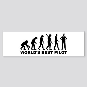 Evolution world's best Pilot Sticker (Bumper)
